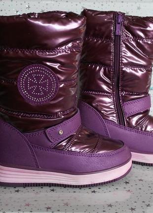 Зимние сапоги-дутики tom.m для девочки 28-31р фиолетовые