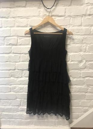 Платье с оборками zara 👕👕👗💄💋