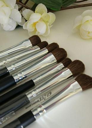 Набор натуральных кистей для макияжа - 7 шт, ворс пони, полноразмерные, видеообзор