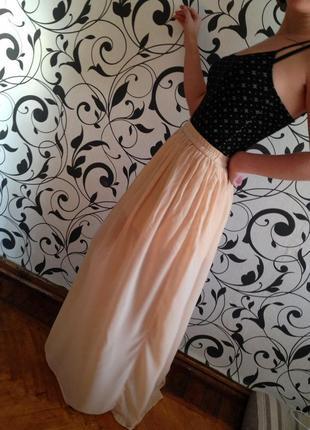 Юбка шифоновая,юбка zara,юбка женская,юбка длинная,юбка в пол