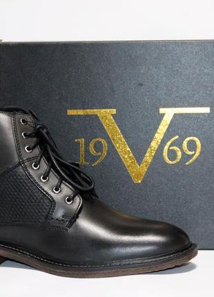 Зимние ботинки versace италия, оригинал. натуральная кожа, мех. 42-47