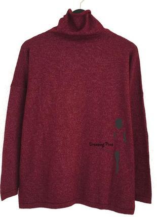 Шерстяной свитер бордового цвета prima donna (италия)
