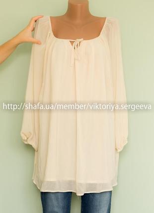Большой выбор блуз - новая актуальная блуза с объемными рукавами большого размера
