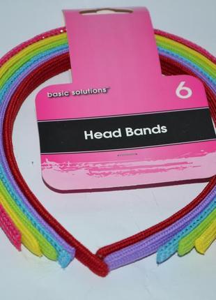 Новый набор для волос basic solutions 6 head bands оригинал