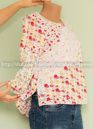 Большой выбор блуз - нежная красивая блуза с молниями по бокам рукав ¾ вискоза