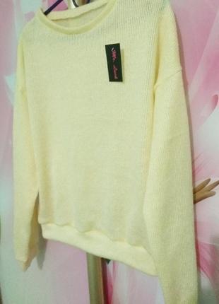 Стильный мохеровый свитер оверсайз, размер универсал s, m, l
