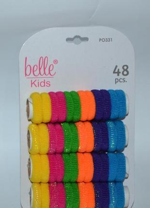 Новый набор разноцветные резинки для волос belle kids 48 pcs 48 pony sox оригинал
