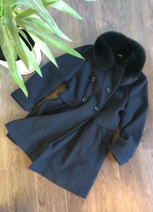 Темно синє пальто george