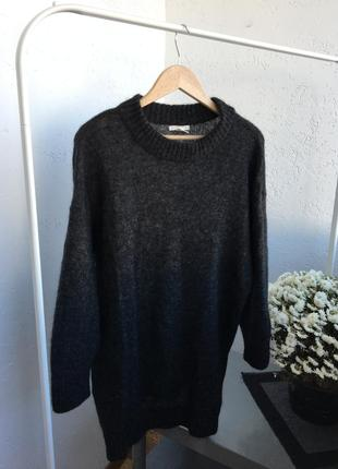 H&m свитер вязаный тёплый серый оверсайз