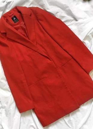 Кашемировое пальто, красное пальто, женское пальтишко