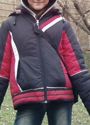 Качественная куртка snow beauty, рост 152