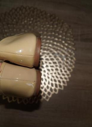 (38/24,5см) moda in pelle! кожа! красивые туфли, балетки на низком ходу3 фото
