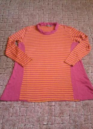 Тонкий свитерок туничка  большой размер 24-26
