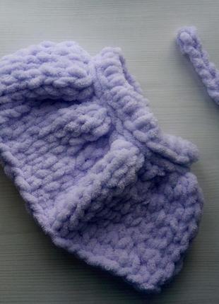 Нежная зефирная юбочка и повязка для фотосессии малышки 0-3 мес