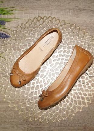 (36/23,5см) 5th avenue! кожа! красивые комфортные туфли на низком ходу