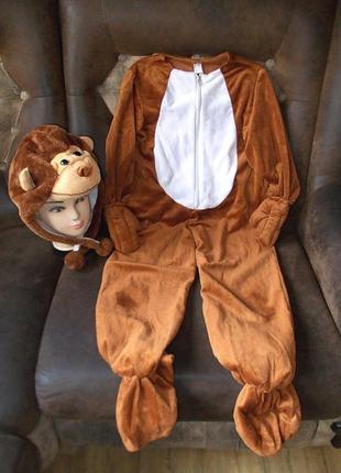 Маскарадный костюм обезьяна на рост 110 -116 см цена снижена
