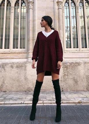Вязаный свитер от zara