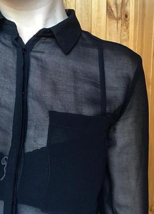 Рубашка блуза полупрозрачная