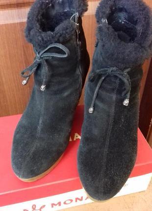 Зимние замшевые ботинки монарх
