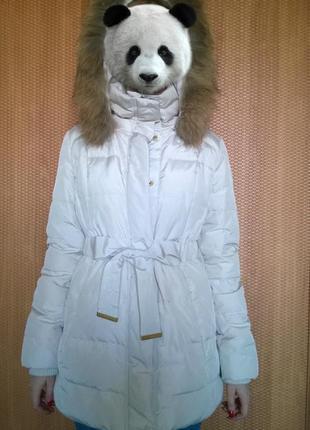 Зимняя куртка с меховой отделкой mango suit