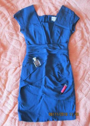 Классное синее платье .