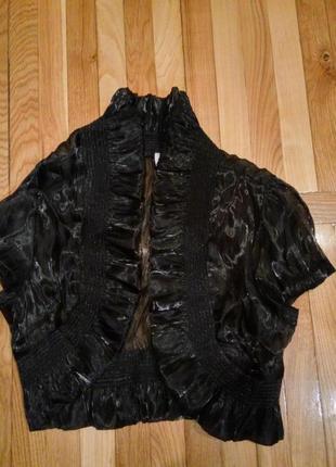 Болеро органза неон черное стильное пролет