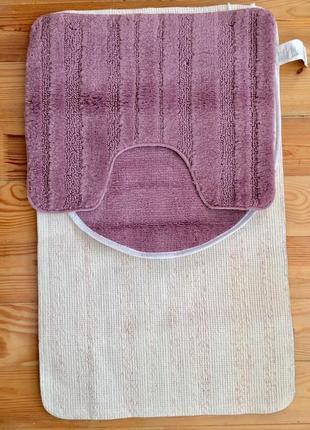 Шикарный комплект ковриков (3шт) у ванную miomare германия
