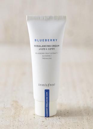 Крем для лица с экстрактом черники innisfree blueberry rebalancing cream