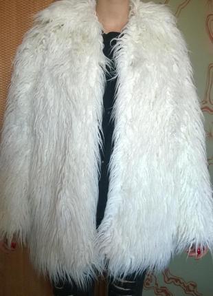 Кудлате пальто з еко-хутра hand made