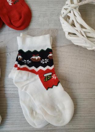 Новогодние носки для девочки или мальчика george 1.5-2 года