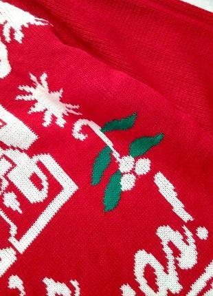 Объемный оверсайз свитер, красный новогодний5 фото