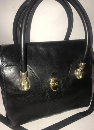 Италия! кожаная сумка на плечо valentina.