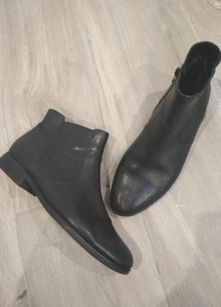 Кожаные челси ботинки полусапожки