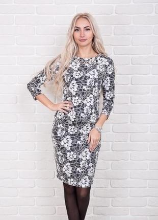 Мягкий женственный комплект костюм с юбкой спідницєю цветочный кружевной узор цвета р.s-l