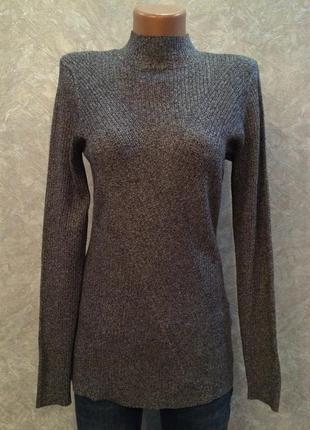 Гольф свитер водолазка в рубчик h&m