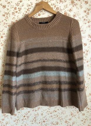Тёплый мягкий приятный свитер в полоску