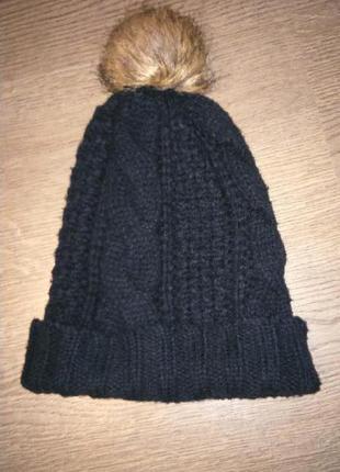 Черная шапка h&m
