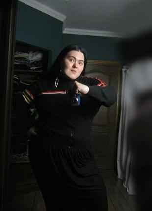 Трендовый спортивный джемпер олимпийка с полосками на молнии.унисекс ог 130 140
