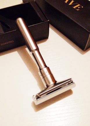 Qshave rd 728 глянцевый с регулировкой - классический cтанок для бритья