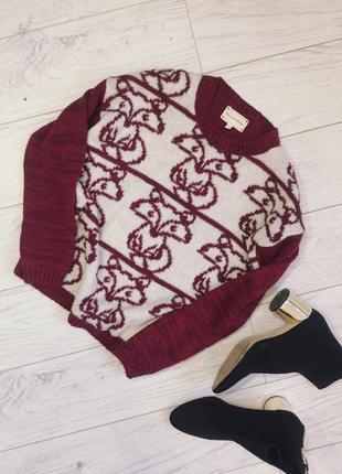 Милая вязаная кофта , свитер