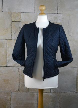 Акция 1+1=3! темно-синяя стеганная курточка reserved