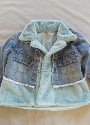 Хит сезона! стильная джинсовка с мехом,осталось 2шт в наличии!