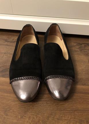 Итальянские туфли замшевые 37 размер