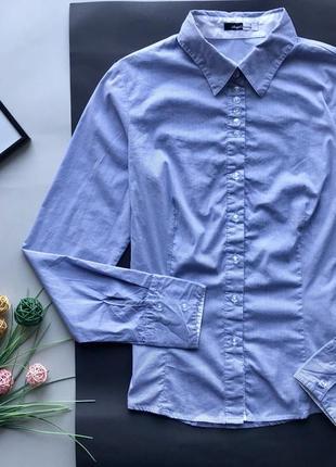 Синяя рубашка в полоску / голубая рубашка в полоску