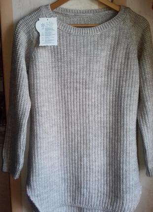 Удлинненый свитер оверсайз!