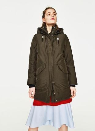 Обнова! куртка парка пальто хаки оливка бренд mango качество новое