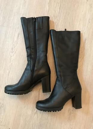 Зимние сапоги кожаные с натуральным утеплителем