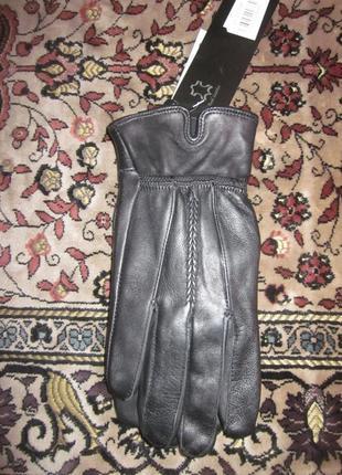 Фирменные кожаные перчатки bruno antonini размер m
