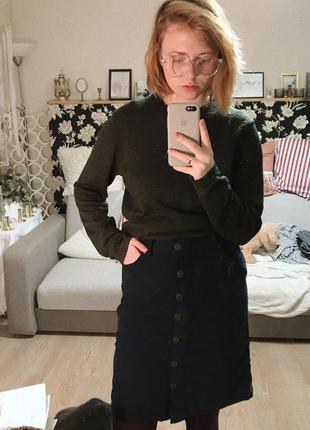 Крутая вельветовая юбка fat face