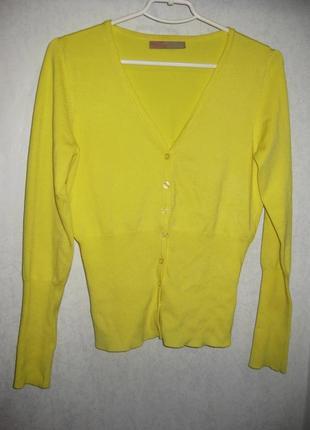 Джемпер кофта на пуговицах жёлтая saint tropez